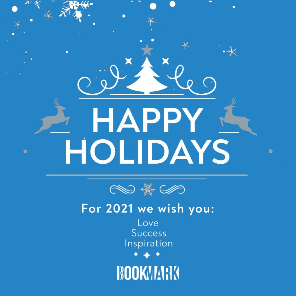 happy holidays by bookmark